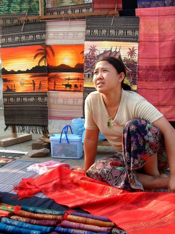 Market trader, Luang Prabang