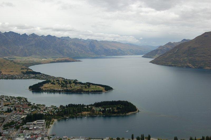 Lake Wakatipu from the top of the gondola