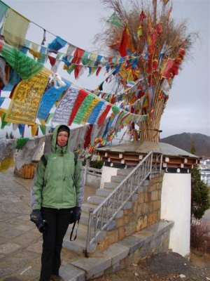 Ann and the prayer flags