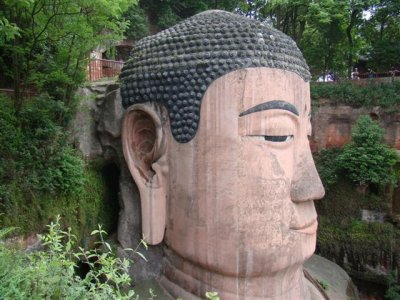 Giant Buddha head Leshan