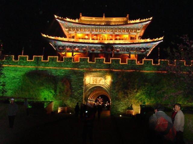 Dali gate by night