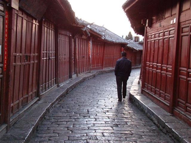 Empty street in Lijiang