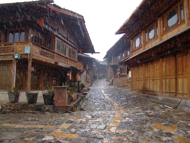 Shangri-la in the snow