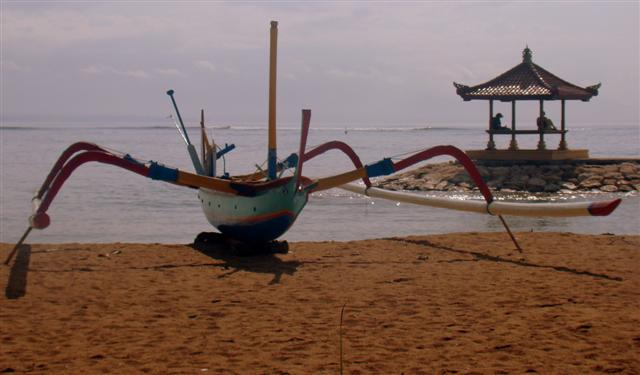 Fishing Boat at Sanur Beach