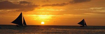 Boracay Boat Sunset
