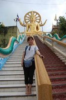 Me at Big Buddha temple in Samui