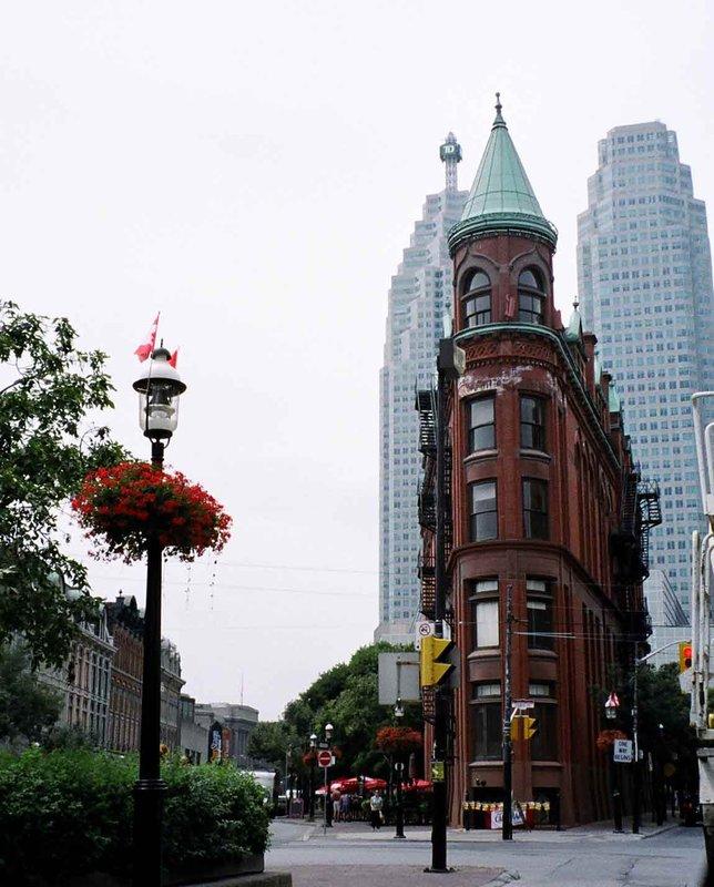 Flat iron building, Toronto