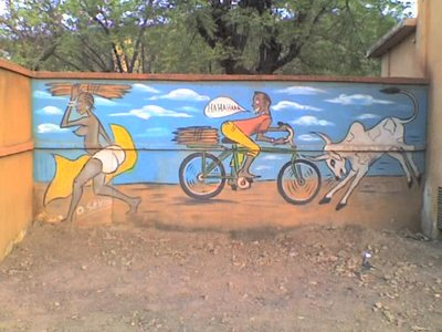 On a wall in Bobo Dioulasso