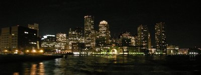 Boston at night.