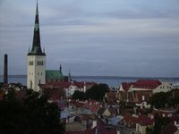 the red roofs in Tallin