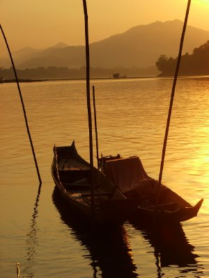 Riverboat sunset...