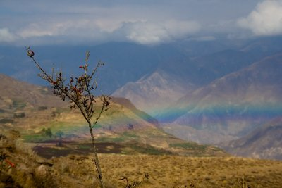 Rainbow over Colca Canyon