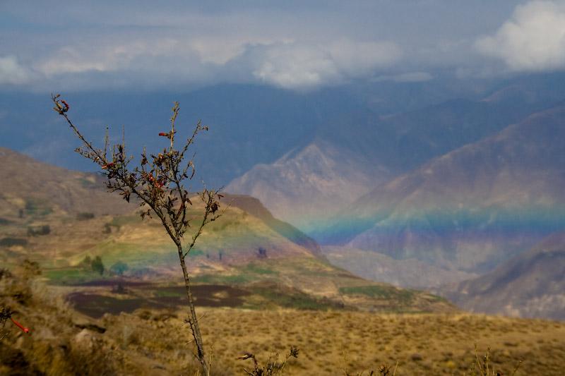 Rainbow over Colca Canyon