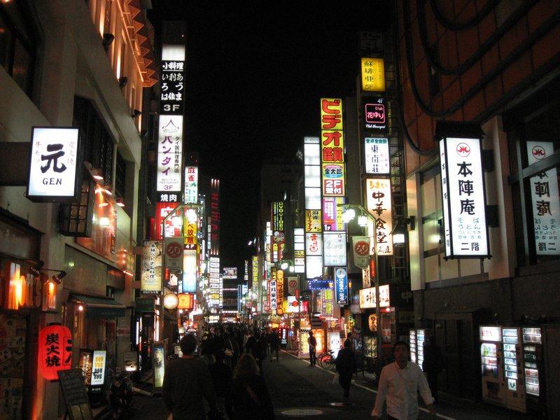 Kabuki-cho area in Shinjuku, Tokyo