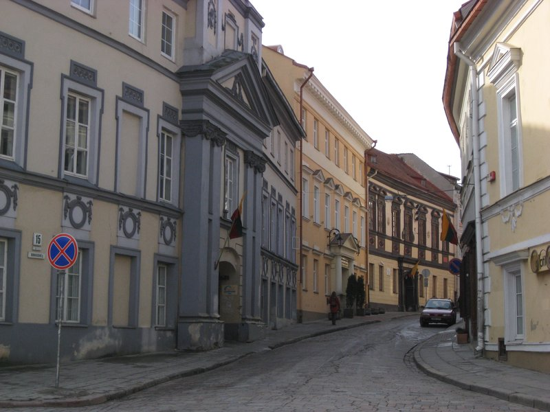 Street in old town Vilnius