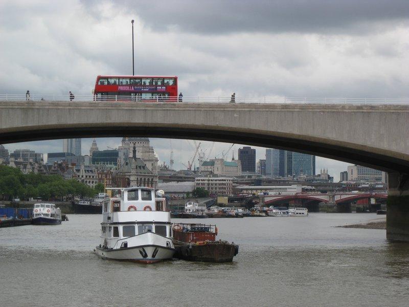 Traffic on river Thames