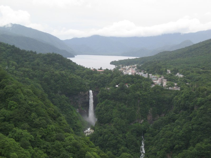 View to Lake Chuzenji and Kegon falls, Nikko