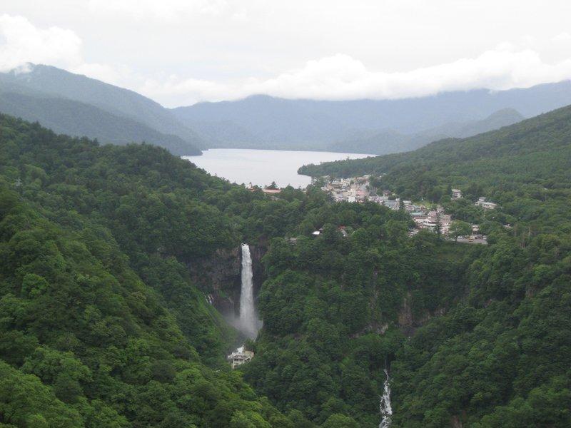 View to Lake Chuzenji and Kegon falls, Nikko