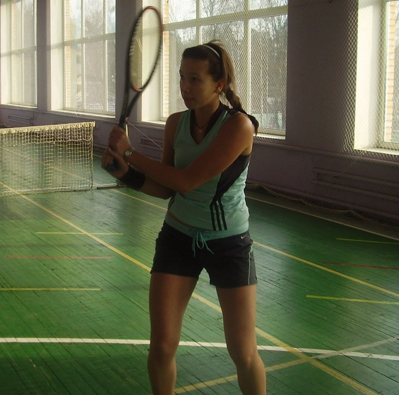 My tennis training