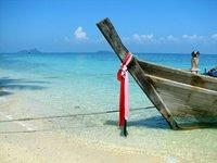 Longtail on Ao To Koh Beach, Ko Phi Phi