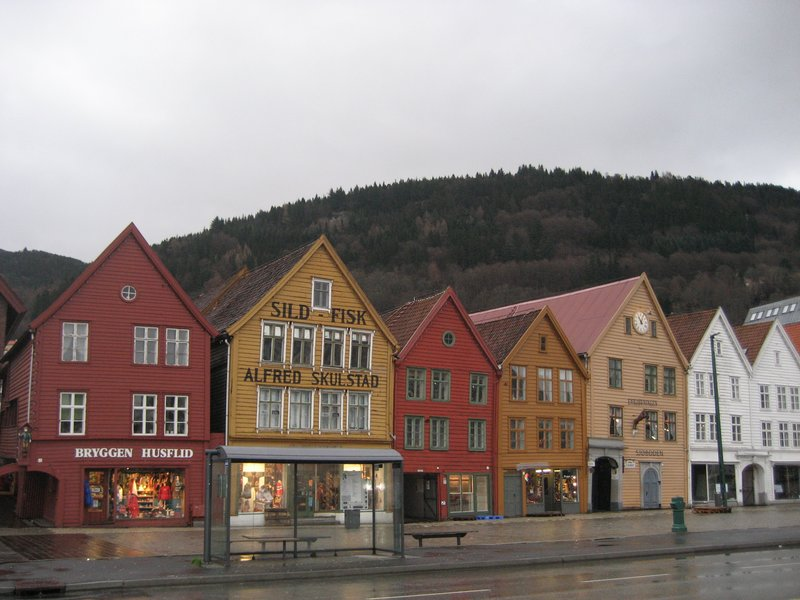 Bergen wharf in winter