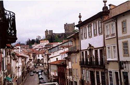 Main street, Bragança, Portugal