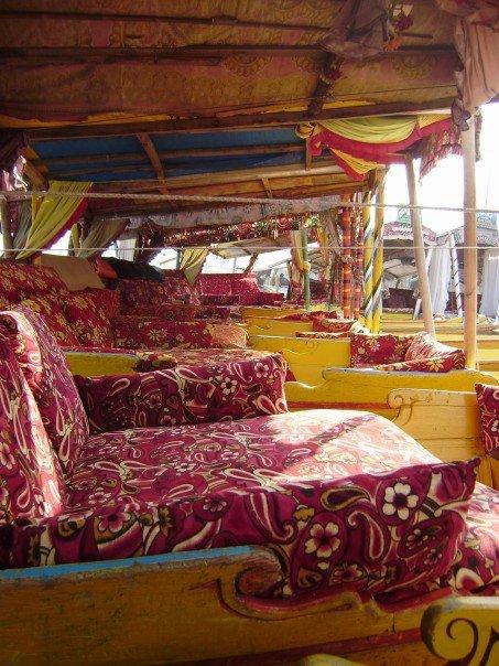 Shikaras (house boats). Dal Lake, Srinagar