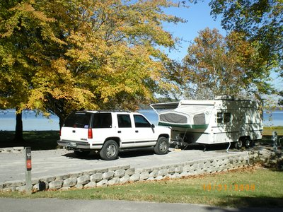 October Camping in Cedar Creek Campground