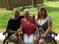 Monica, her mom Ruth-Ellen, and Jessica