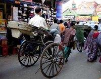 Hand-pulled rickshaw, Calcutta
