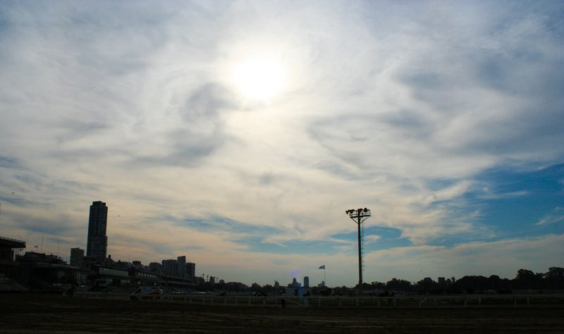 Sky over the Hipodromo Argentino