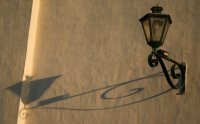 Lamp on the wall of the Convento de San Bernardo