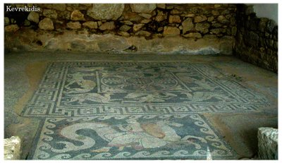 The House of the Mosaics - Eretria, Greece. 