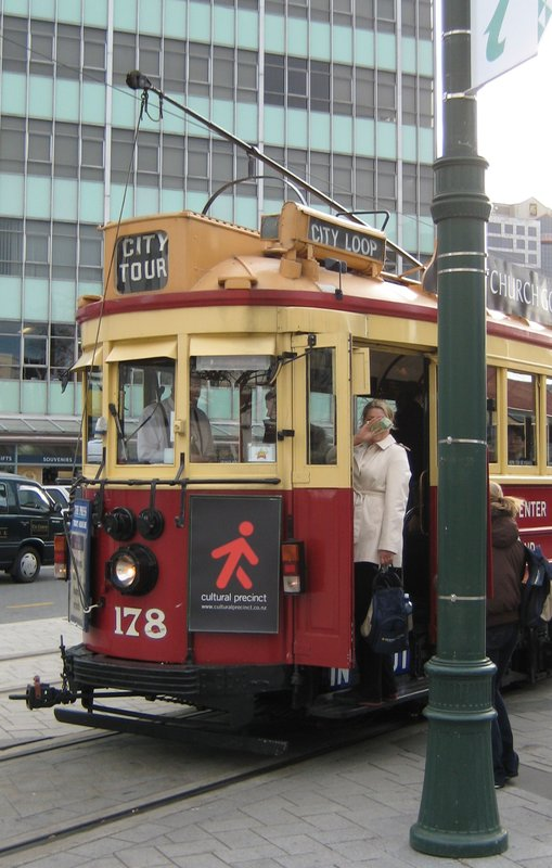 Historic Tram in Christchurch