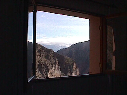 my window at Iruya, the end of Ruta 133
