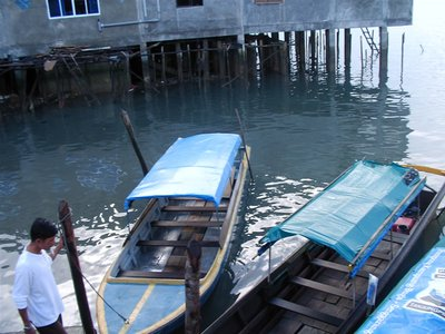 Boat to Senggarang Island
