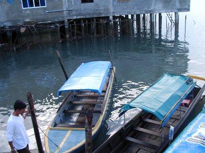 Boat to Senggarang Island