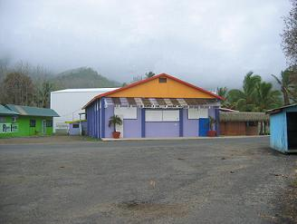Boarded cinema in Avarua