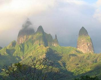 Sunrise on Ua Pou, Marquesas