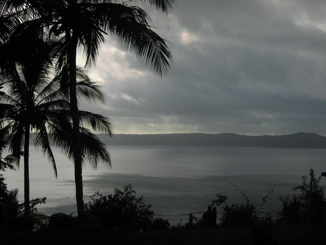 Rain over Lughu Bay