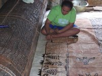 Painting tapa cloth