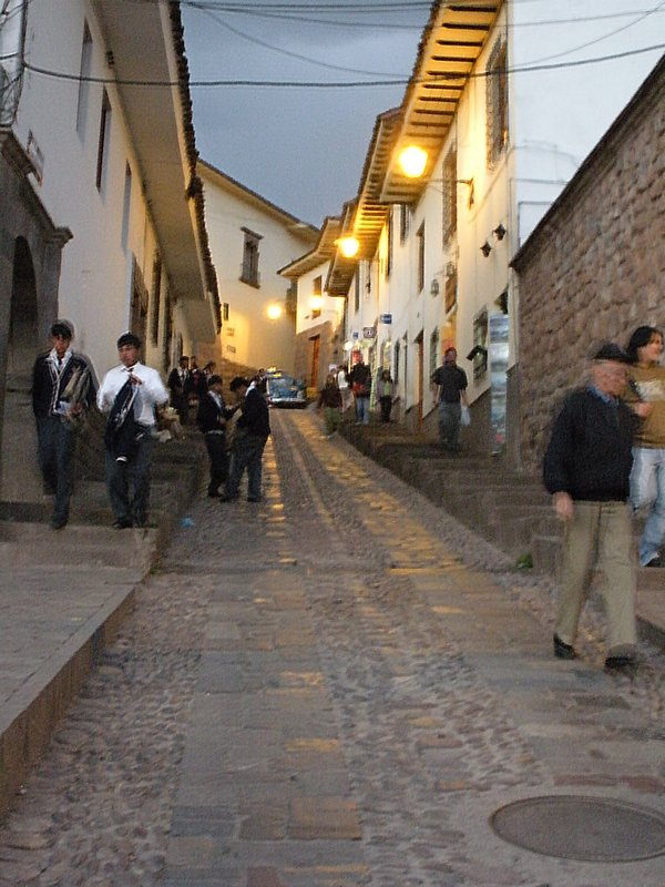 Typical cobbly street, Cusco.