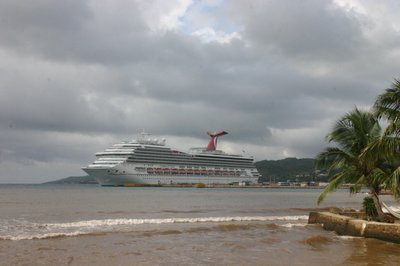 "Carnival Valor at Roatan ""Cruise Terminal"""