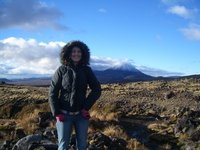 Me standing by Mt Doom!!