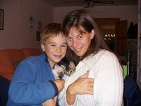 Me, My Son, and our kittens