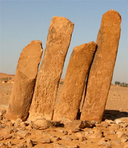 The Standing Stones of Rajajil, close to Jauf