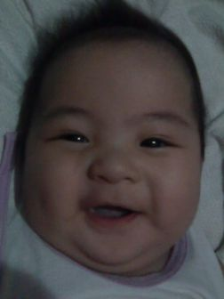 smiling baby koko