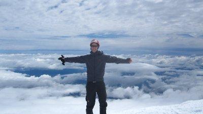 Auf dem Villarica Vulkan