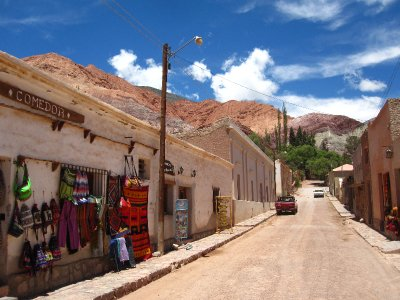 Downtown-Purmamarca in der Quebrada de Humahuaca