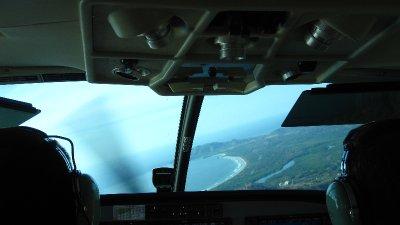 Anflug auf Tamarindo